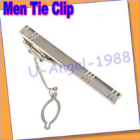 Wholesale Men Fashion Metal Silver Tone Simple Necktie Tie Bar Clasp Clip Practical Decor JE640