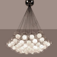 CHAUD!!! 19 * 10W moderne Dinning ménage Lampe suspension Chambre / Glass Pendant Chandelier Lighting Lumières MYY5104