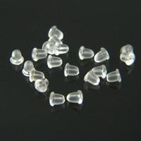 Wholesale Silicone Earring Clear Rubber Earring BackFashion Earing Earplugs Stopper Finding