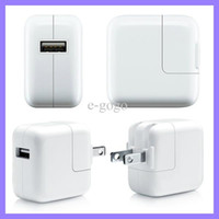 Wholesale 12W US AU UK EU Plug AC Power Adapter USB Wall Charger For iPhone ipad Mini
