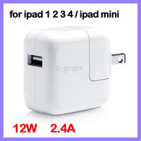 For Apple Power charger For Ipad Mini 12W 2.4A USB Wall Charger Power Adapter US EU UK AU Plug for iPad mini ipad 4 iPhone 5