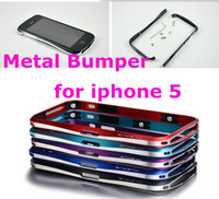 aluminum frame - New Double Color Metal Aluminum Frame Bumper shell Case Cover For Iphone G P311