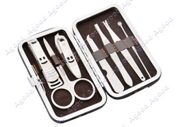 Wholesale 10 set Portable in Stainless Steel Nail Manicure kit Personal Beauty Set With Case