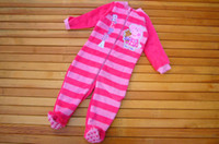 12-18 Months Unisex Winter 2013 New peppa pig one-pieces romper peppa pig girls jumpsuits baby coral fleece rompers children sleeping bags kids pajamas free shipping