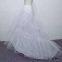 Wholesale Hot Sale Cheap Hoops Layers Train Petticoat A Line Wedding Dress Petticoat Crinoline Underskirt Wedding Dresses Bridal Gowns