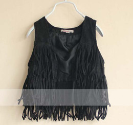 Wholesale Children Outwear Girl Vest Kids Waistcoat Sleeveless Coat Casual Vest Child Clothing Fashion Tassels Waistcoats Fall Outfit Girl Clothes