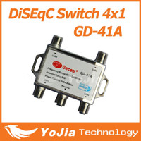Wholesale 10pcs Original Gecen x1 Satellite DiSEqC Switch Gecen GD A for satellite receiver with high quality Post