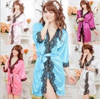 Wholesale Sexy ladies Sexy Temptation Nightdress dress Bathrobes Pajamas Lingerie G string Sleepwear