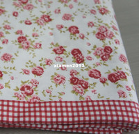Wholesale Red Rose Bedspread cotton pink floral sheet bedclothes bedding korean bedding set