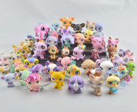 Wholesale 2 quot Littlest Pet Shop LPS Animals Figures Toy different pieces Cute Plastic Toys set Collection Kids Gifts