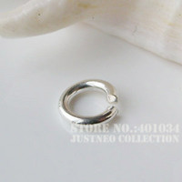 Wholesale solid S925 Sterling Silver open jump rings in various options silver split rings silver jewelry components