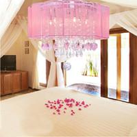 Wholesale New Drum Shade Crystal Ceiling Chandelier Pendant Light Fixture Lighting Lamp