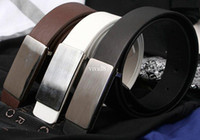 Wholesale mixed order over usd Classic fashion steel head leather Belt men belts