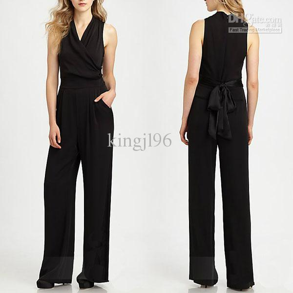 2017 2014 Black New Fashion Sexy Women Cocktail Evening Jumpsuit ...