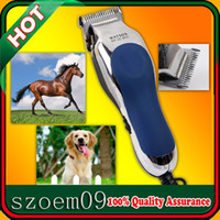 Pet Clipper RFJZ-805 Blue & Black Professional 20W 220-240V Low-noise W Cord+Dual Blade Electric Pet Dog Horse Sheep Hair Trimmer Clipper