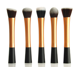 Wholesale New Gold Professional powder blush liquid Foundation brush Make up Cosmetic tool H1165J H1166J H1167J H1168J H1169J