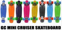 "Long Board Plastic 22 inch Free Shipping 22"" Penny Complete Blue Penny Style Board Skate Australia ""Nickel"" Cruiser Skateboard"