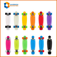 "Butterfly Board Plastic 22 inch Free Shipping 22"" Penny Nickel Skateboard drift Block Neon Orange PV Cruiser Mini Longboard Complete plastic penny skateboard"