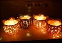 Holiday salt crystal lamps - EMS Freeshipping Himalayan Ionic Crystal Salt Lamp Night Light Home Decoration