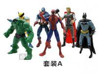 Wholesale 12 SET Marvel DC The Avengers Hulk Captain Wolverine Batman Spiderman Figure