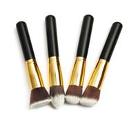 Wholesale Gold Pro Foundation blush Liquid brush Kabuki Makeup Brush Set Cosmetics Tools High Quality ZH117C