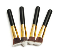 Wholesale Gold Pro Foundation blush Liquid brush Kabuki Makeup Brush Set Cosmetics Tool H1174A H1175A H1176A H1177A