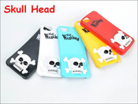 Best Cheap 3D Color Skull Head image Danse Macabre Hard PC Case Back Cover For Apple iPhone 5 5G 5S with Stand Holder,20pcs
