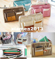 Unisex pocket books - multifunctional Makeup Book Phone Cosmetic Storage Organizer Bag In Bag Handbag pockets Travel Bag Briefcases Colors