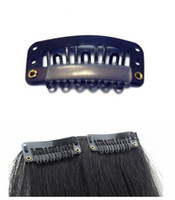Wholesale Clips U Style On In Hair Extension Wigs Snap Tools Accessories Black Color Wigs Weft mm