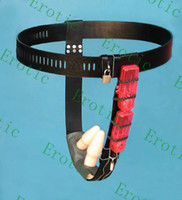Female Chastiy Belt  50% discount Female leather (PVC) vibrating anal plugs vaginal plugs chastity belt. Chastity device Practical chastity belt