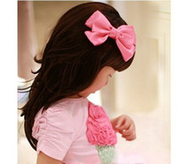 Wholesale HOT Tiaras Bow headwear fashion Exquisite Children headdress hair accessories Girls Korean princess rosette top folder large side folder