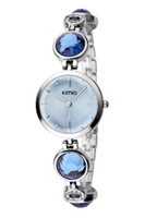 Cheap New fashion women's romantic dress watch with crystal diamond and luxury steel watch band japan movement K465L