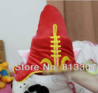 Wholesale League of Legends LOL Faery Witch Lulu Cosplay Hat plush cap red hat children gift