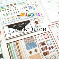 Wholesale New Diary Deco Pack DIY paper sticker set sheets per set