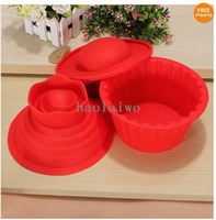Wholesale hot set big top cupcake as silicone bakeware cake mold no box