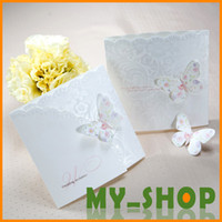 Wholesale Free Printable Cards For White Butterfly Unique Wedding Invitations Lace Edge mm Engagement I