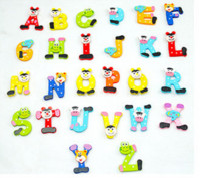 Baby alphabet fridge magnet - Learning Toys Novelty Back To School A Z Alphabets Animal Design Kids Early Learning Wooden Fridge Magnet kids educa