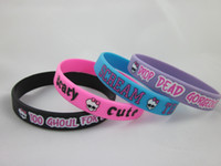 Unisex printed silicone bracelet - Monster high wristband silicon bracelet printed wristband