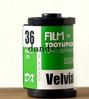 Wholesale Creative Film shape Toothpick box Mix colors