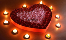 Wholesale box Nice soap flower Heart shape Rose flower soap