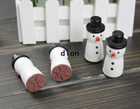 Wholesale Funny snowman novelty wood rubber stamp gift stamp designs