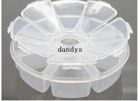 drugs - New transparent one week days portable drug case Jewelry storage case