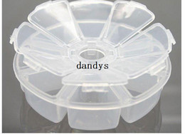 Wholesale New transparent one week days portable drug case Jewelry storage case