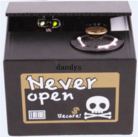 Wholesale pc New Ghost bank Never open saving box Ghost will make sound and glowing skull