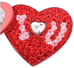 Wholesale box Nice soap flower Electronic light I LOVE U Rose flower soap