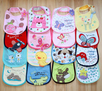 Cotton baby boy bibs lot - 10pcs bibs for babies carton bib infort for boys girls cotton baby wear saliva waterproof