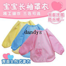 Wholesale 3pcs all inclusive gowns child gowns eating bib waterproof anti tofts Baby bib Baby wear
