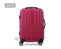 Wholesale hot selling women amp men trolley luggage travel bag hard case inch black gray and red color