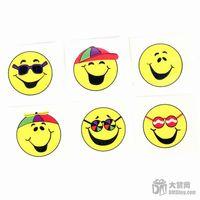 Wholesale Pattern tattoo paper smiley cartoon toy kj00221