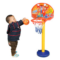 Cheap Indoor basketball toy plastic can lift basketball band baby toddler